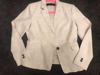 Zara Linen Jacket Size 10
