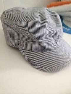 Striped Baker Boy Hat