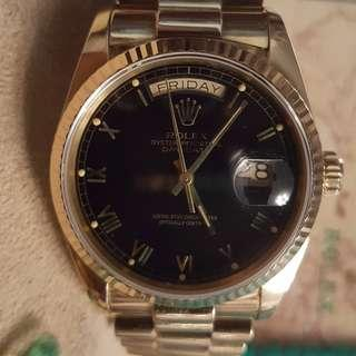 Rolex Day-Date 18038 18K GOLD Watch (FULL set)