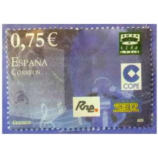 Stamp Spain 2002 Youth - Radio Music Euro 0.75