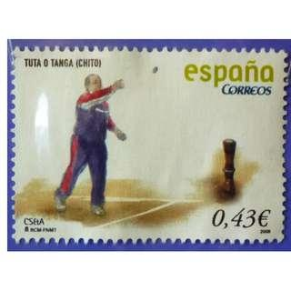 Stamp Spain 2008 Traditional Games & Sports 'Tuta o Tanga' EURO 0.43