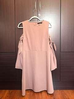 Nude semi formal dress