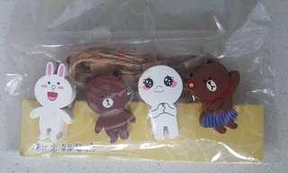 Line Friends 木夾 brown cony moon 包平郵