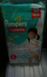 Pampers baby dry pants 66pcs