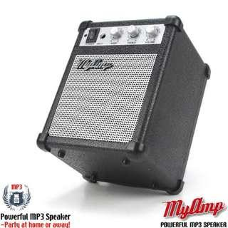 MyAmp 5W portable speaker for phones, mp3 players, laptops, tablets etc