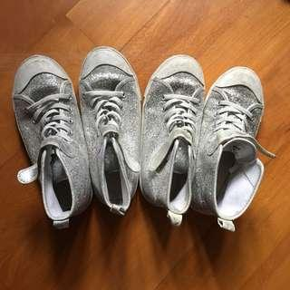 Size 32 and 33 h & m silver shoes