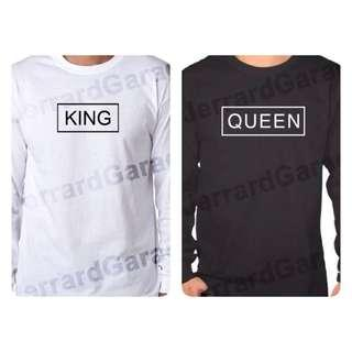 King & Queen (Box Design) Long Sleeve T-Shirt