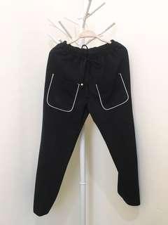 Pocket Black Pants