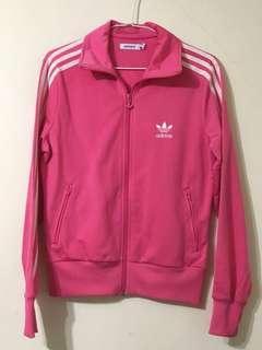 🚚 愛迪達三條線桃紅外套#十月女裝半價