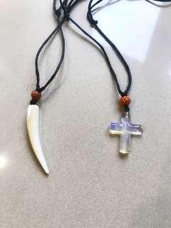 皮繩十字項鍊