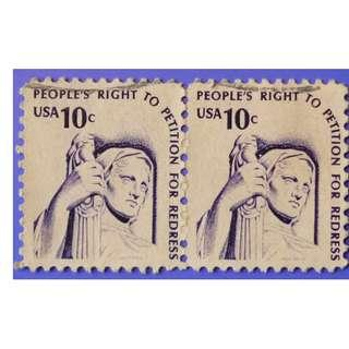 Stamp USA 1977 Americana Issue - Contemplation of Justice 10c Pair