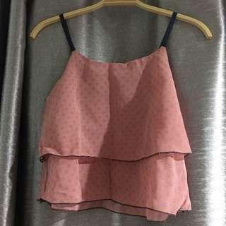 Pink top with matching shorts