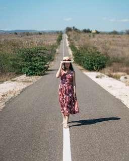 One set summer dress (top n skirt)