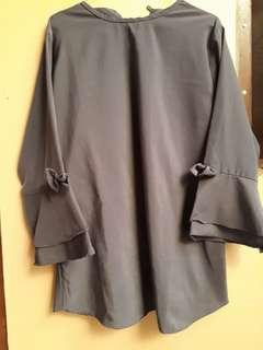 Baju Atasan Wanita Murah Warna Abu