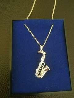 Pendant Necklace - Saxophone