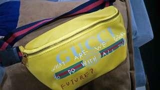 Tas pinggang / waist bag / body bag / belt bag kulit asli