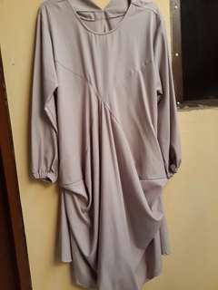 Baju Atasan Muslim Wanita Murah Warna Ungu Muda