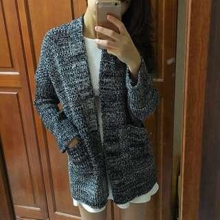 Thick Grey Knitted Jacket