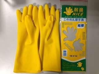 🚚 乳膠手套10x14 加厚