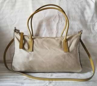 REDUCED! Authentic Prada Nylon and Patent Leather Medium Two Way Bag