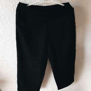 high waisted fitted culottes