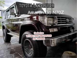 Kereta Bateri Toyota Land Cruiser , Amaron Go N70Z