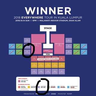 Winner Everywhere Tour in KL Lower Price (Purple Zone)