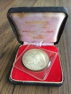 E146 - Singapore 1972 Proof Silver Eagle Coin