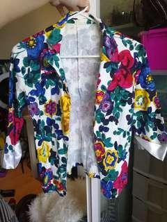 Womens floral blazer