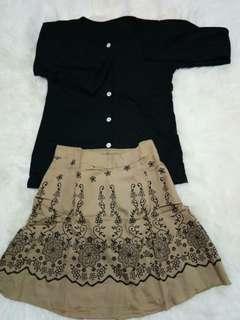Set lengkap baju atasan + rok