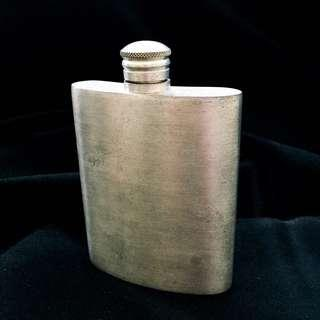 Antique Vintage Pewter Hip Flask Liquor Flask