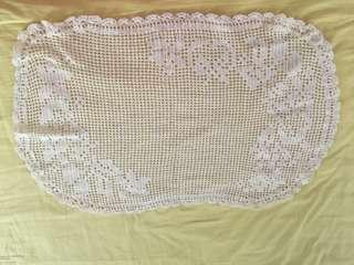 """Free mail! Knitted Table cloth size 17""""x27"""""""