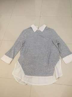 Blouse sweater abu abu