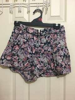 Topshop size 8 high waisted shorts