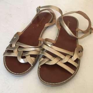 American Eagle Gold Sandals