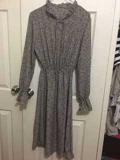 Free size- calf length floral dress
