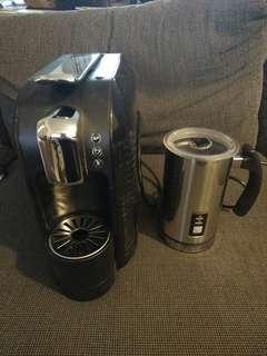 Aldi coffee machine and milk frother
