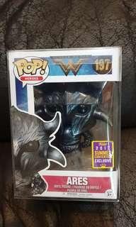 Funko pop ares sdcc wonder woman