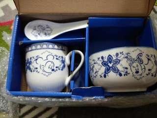 迪士尼杯碗陶瓷組