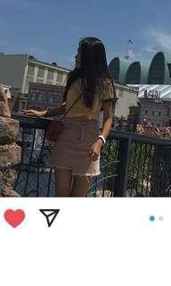 粉色牛仔短裙