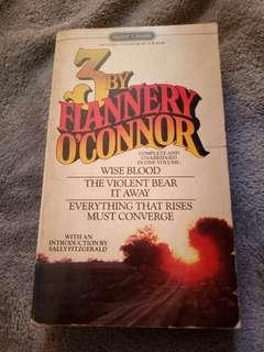 Three books by Flannery O'Connor