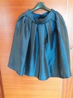 簡約寶藍挺身半截裙