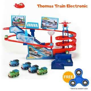 Thomas Train Toys Car Racing Electronic Automatic Track Kids Pretend Play