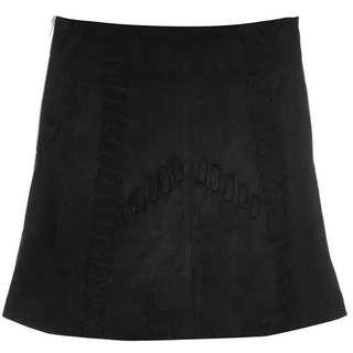 Glamorous suede skirt