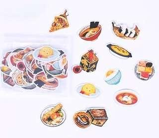 🚚 [In stock] 32 pcs Japanese Food Sticker Packs