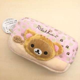 全新拉拉熊化妝包 絨毛 多功能包 鉛筆盒 懶懶熊
