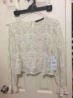 Zara lace top/ new with tag