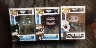 Funko pop batman the dark Knight rises bank robber joker catwoman batman