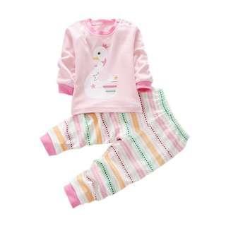 Elegant baby girl beautiful day 2pcs set clothes 2018 ( Goose )