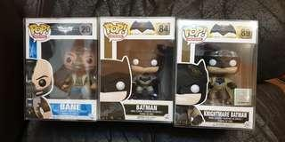 Funko pop bane the dark Knight rises batman vs Superman knightmare